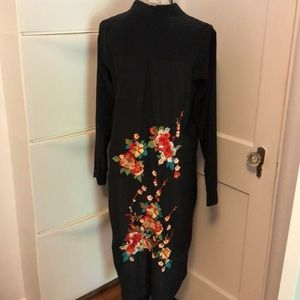 Johnny Was Long Embroidered Silk Tunic
